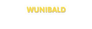 Der Vorname Wunibald