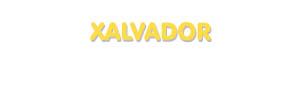 Der Vorname Xalvador