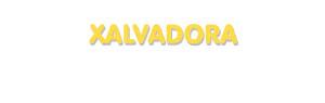 Der Vorname Xalvadora