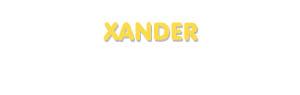 Der Vorname Xander