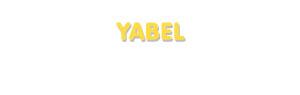 Der Vorname Yabel