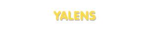 Der Vorname Yalens