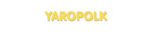 Der Vorname Yaropolk