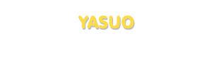 Der Vorname Yasuo