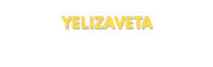 Der Vorname Yelizaveta