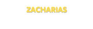 Der Vorname Zacharias