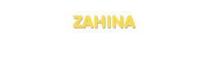 Der Vorname Zahina