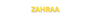 Der Vorname Zahraa