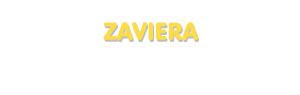 Der Vorname Zaviera