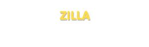 Der Vorname Zilla