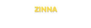 Der Vorname Zinna