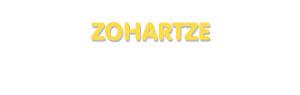 Der Vorname Zohartze