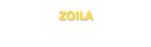 Der Vorname Zoila
