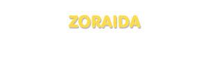 Der Vorname Zoraida