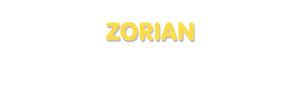 Der Vorname Zorian