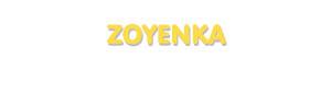 Der Vorname Zoyenka