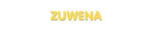 Der Vorname Zuwena